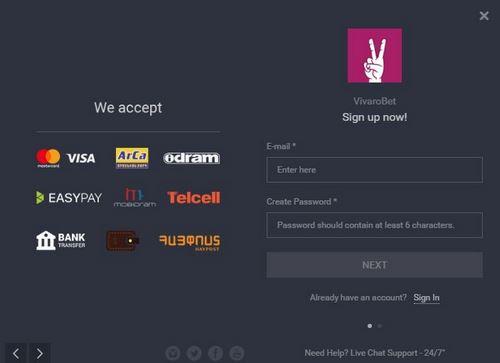 ثبت نام در سایت ویوارو بت